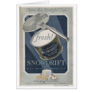 Snowdrift Vegetable Shortening Card