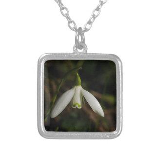 Snowdrop Flower Necklace