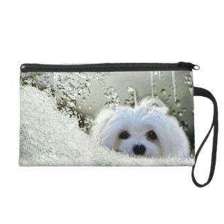 Snowdrop the Maltese Clutch Bag/Purse