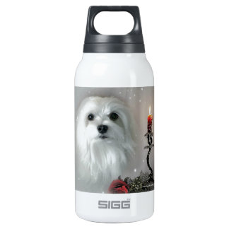 Snowdrop the Maltese Insulated Water Bottle