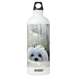 Snowdrop the Maltese Water Bottle