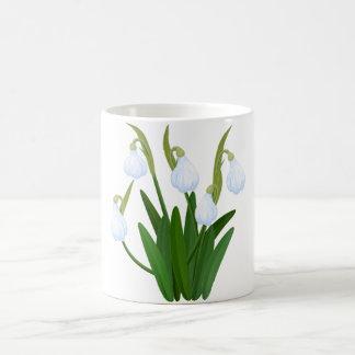 snowdrops pattern coffee mug