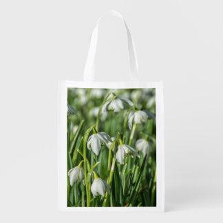 Snowdrops Reusable Grocery Bag