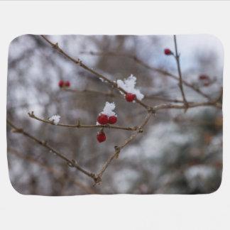 Snowed Berries Baby Blanket