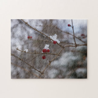 Snowed Berries Jigsaw Puzzle