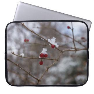 Snowed Berries Laptop Sleeve