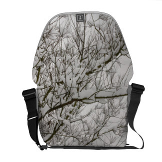 snowed branches commuter bags