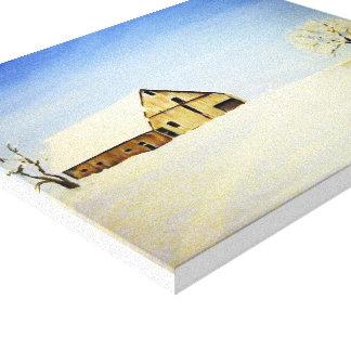 Snowed in Barn on Canvas