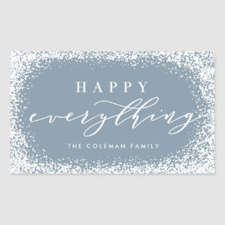 Snowed In Happy Everything Rectangle Stickers
