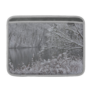 snowed river MacBook sleeve