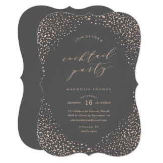 Snowfall Cocktail Party Invitation
