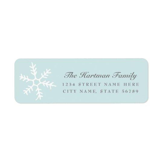 Snowfall | Holiday Return Address Labels | Blue