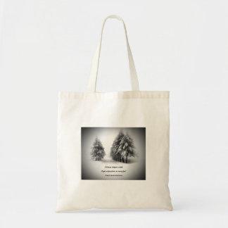 Snowfall Incantations Poetry Budget Tote Bag