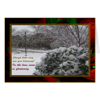 """Snowfall on 'Waves of Christmas'"" Card w/Envelope"