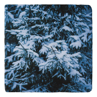 Snowfall Winter Christmas Tree Trivet