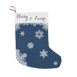 Snowfall Winter Stocking with Custom Name & Date