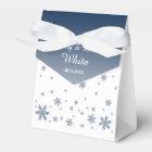 Snowfall Wintry Wedding Favour Bag Favor Box