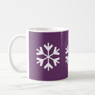 Snowflake - 11oz Plum Mug