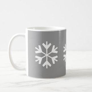 Snowflake - 11oz Silver Mug