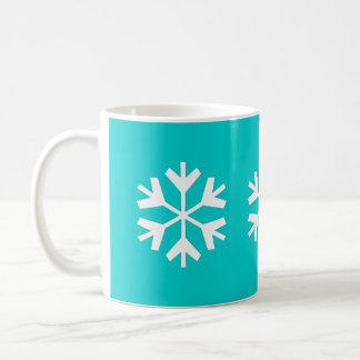 Snowflake - 11oz Teal Mug