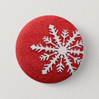 Snowflake 2 Inch Round Button