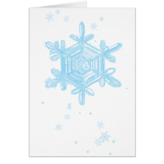 snowflake 4 greeting card