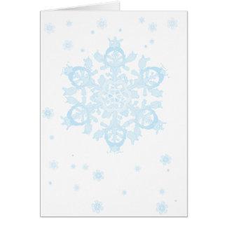 snowflake 6 holiday card