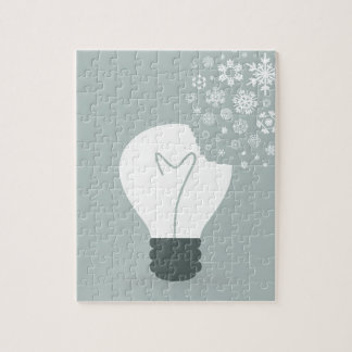 Snowflake a bulb2 jigsaw puzzle