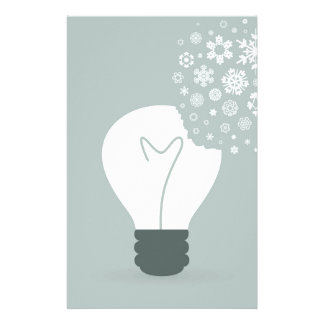 Snowflake a bulb2 personalized stationery