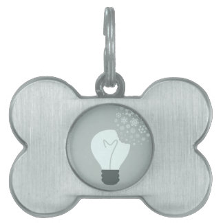 Snowflake a bulb2 pet tag