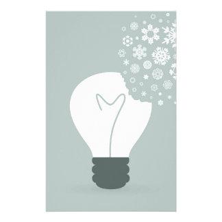 Snowflake a bulb2 stationery