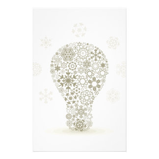 Snowflake a bulb customized stationery