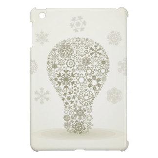 Snowflake a bulb iPad mini cover
