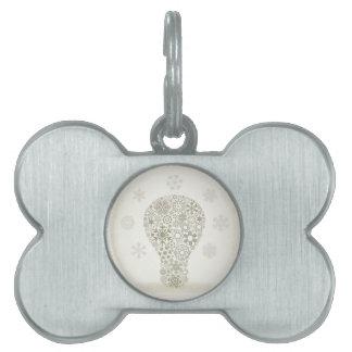 Snowflake a bulb pet tag