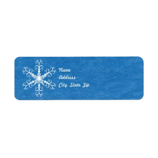Snowflake Address Label Template
