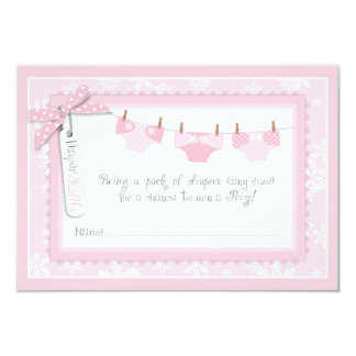 Snowflake and Baby Carriage Diaper Raffle Ticket Card
