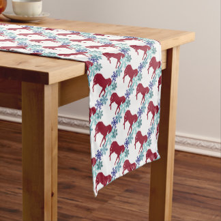 Snowflake and Horse Christmas Table Runner
