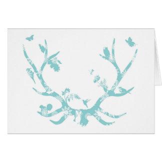 Snowflake Antlers Christmas Card