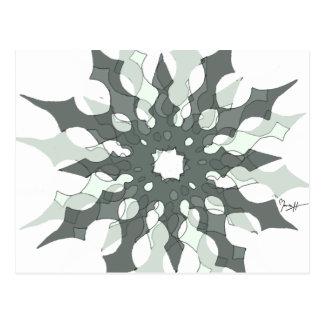 Snowflake Art in Three Layers - Fresco Postcard