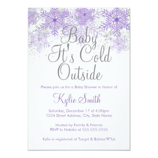 Snowflake Baby It's Cold Outside Baby Shower 1 Cards
