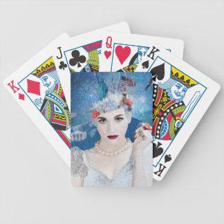 Snowflake Bicycle Playing Cards