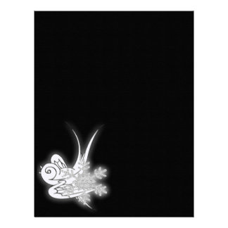Snowflake & Birdie Christmas Design - B&W Infrared Letterhead Design