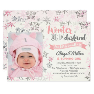 Snowflake Birthday Invitation - Winter Onederland