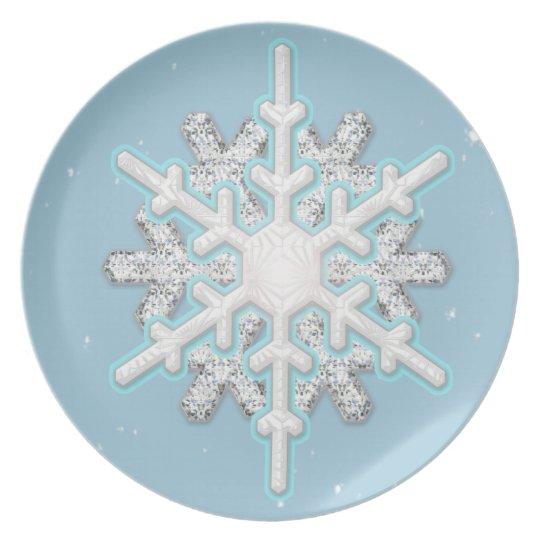 snowflake blizzard plate