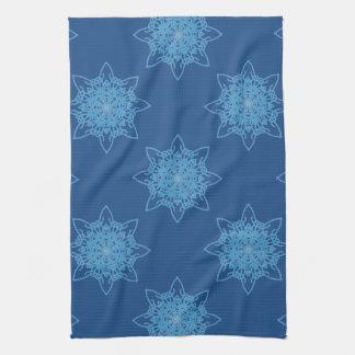 Snowflake Blue Kitchen Towel