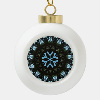 Snowflake Blue Tree Pattern Design Ornament