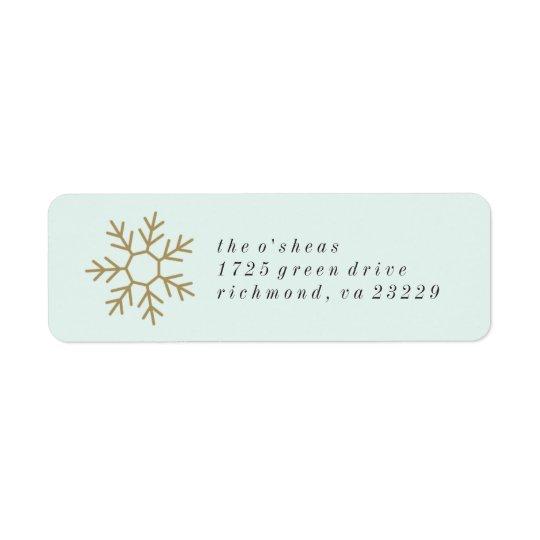 Snowflake Border Address Label