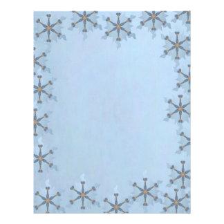 Snowflake Border Custom Letterhead