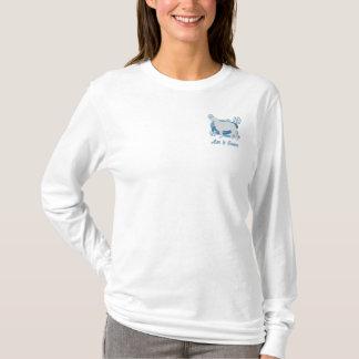 Snowflake Borzoi Embroidered Long Sleeve Shirt