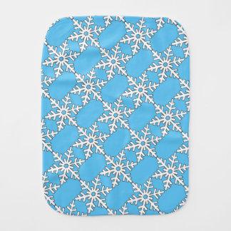 Snowflake Burp Cloth
